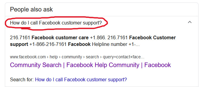 Facebook Support Phone Number