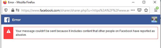 Facebook like widget warning